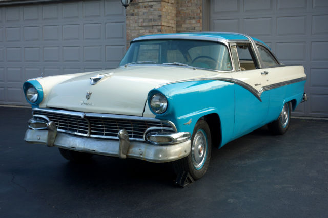 1956 Ford Crown Victoria Blue And White Interior Needs
