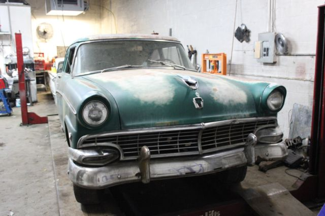 1956 ford customline tudor sedan two door no reserve for 1956 ford customline 2 door hardtop