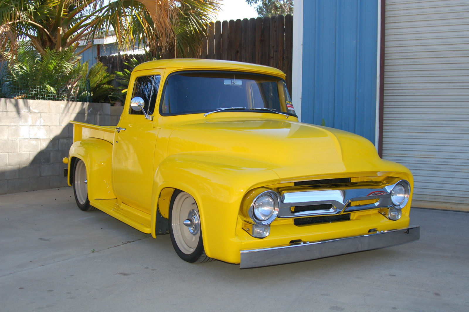 1956 ford f100 big window 427fe 3 duece intake tci chassis for 1956 ford f100 big window truck for sale