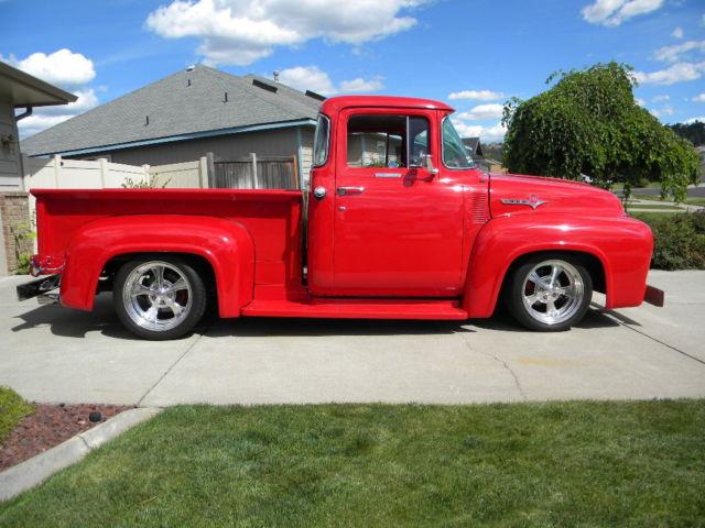 1956 ford f100 big window street rod restored classic for 1956 f100 big window for sale