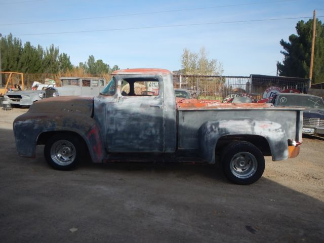 1956 FORD F100 CHOPPED TOP TILT FRONTEND SBC RUNS OLD HOT