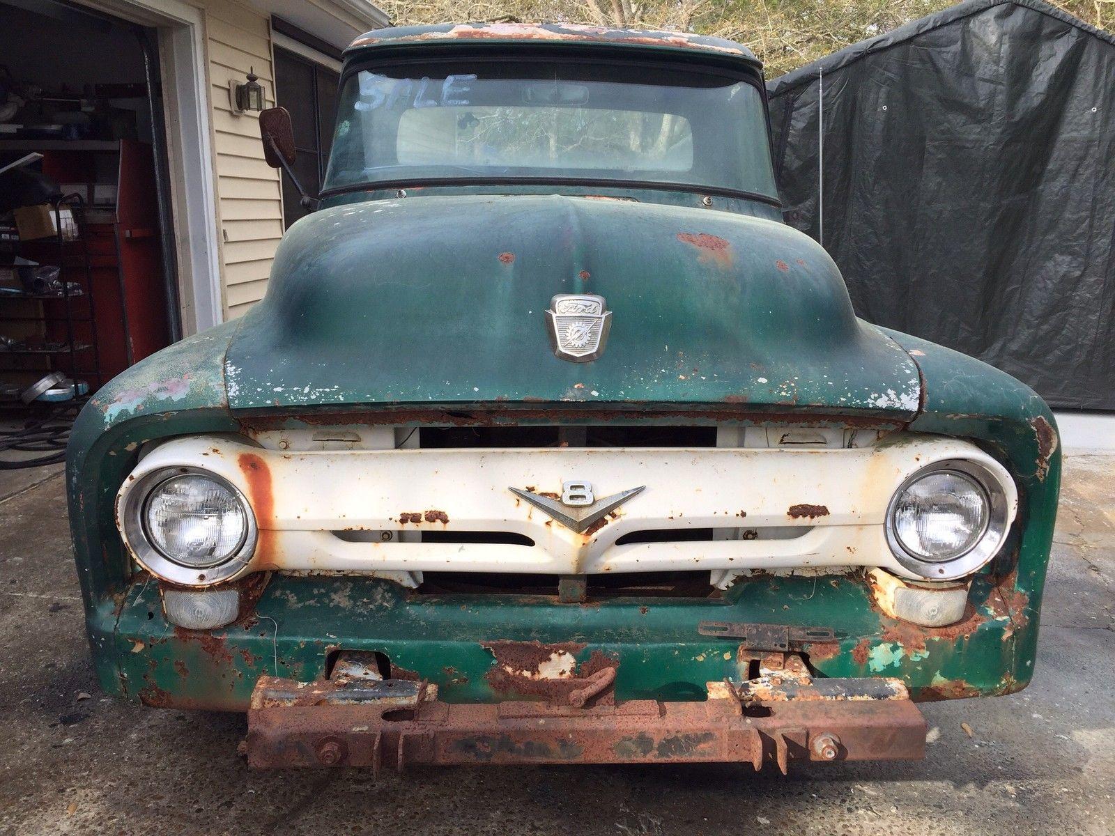 1956 Ford F100 F 100 Project Truck Hot Rod Rat Hotrod Ratrod 1955 Trucks Street