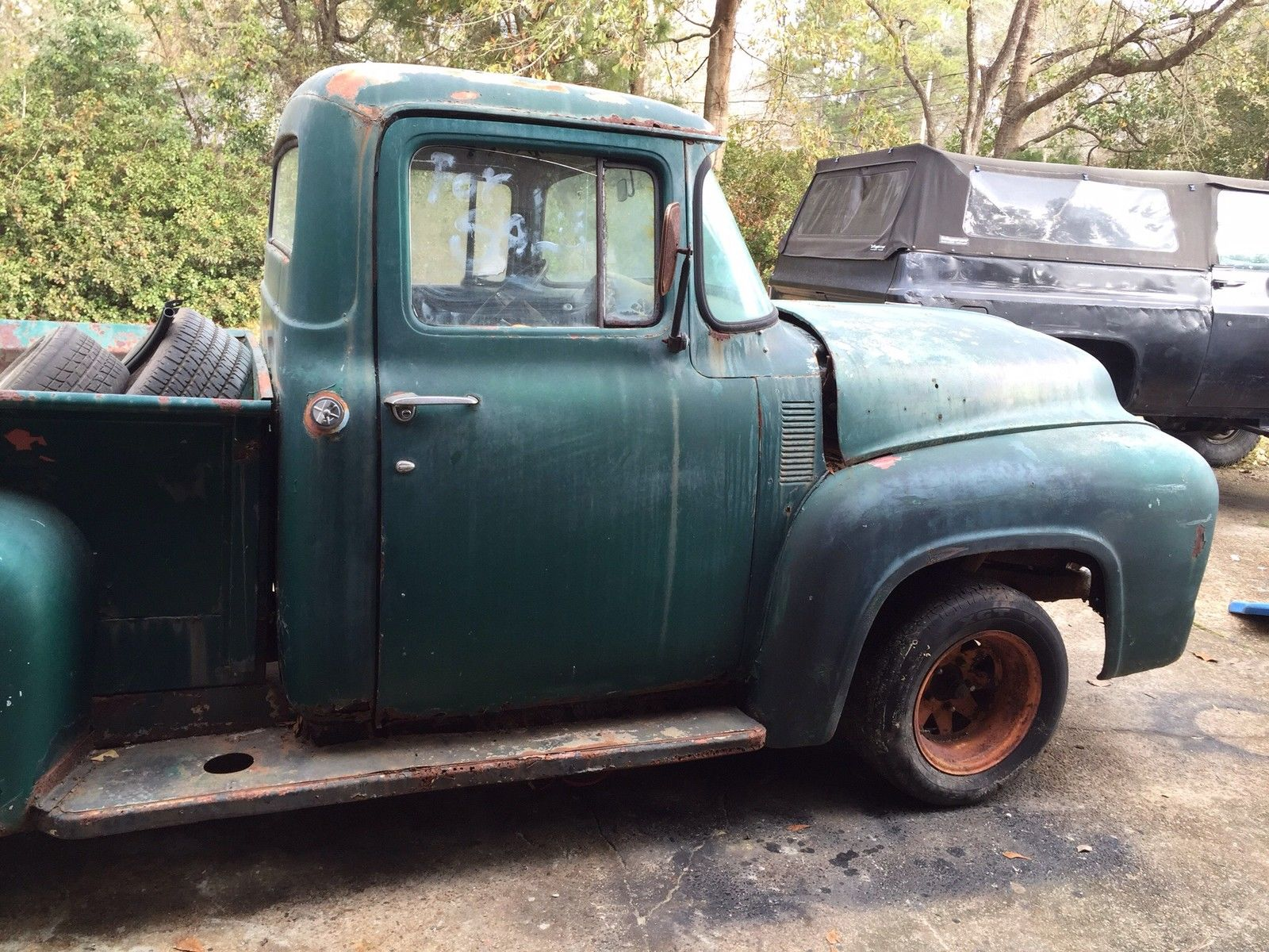 1956 Ford F100 F 100 Project Truck Hot Rod Rat Hotrod Ratrod 1955 Prevnext