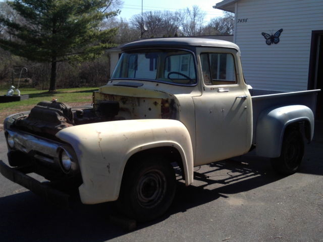 1956 ford f100 pickup big back window classic ford f for 1956 ford f100 big window truck for sale