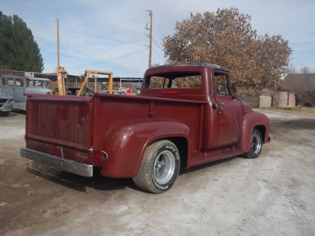 1956 Ford Fire Truck : Ford f pickup hot rat rod fire damage solid navada