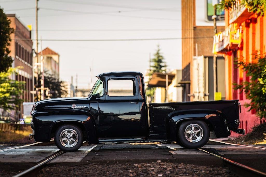 1956 Ford F100 Pickup Modified Custom Pro Street look V8 ...