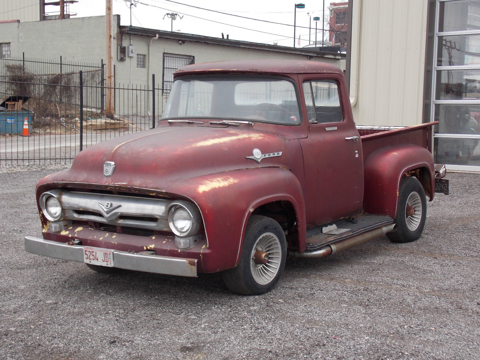 1956 ford f100 pickup truck solid project motor runs clean title no reserve classic ford f. Black Bedroom Furniture Sets. Home Design Ideas