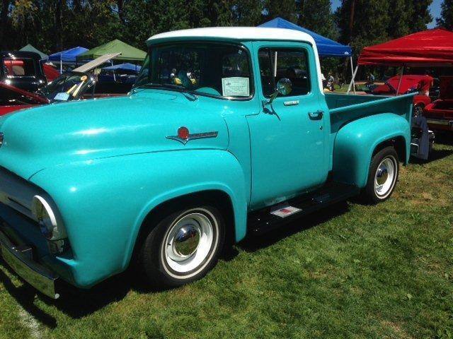 1956 ford f100 short bed pickup fully restored  292 v8