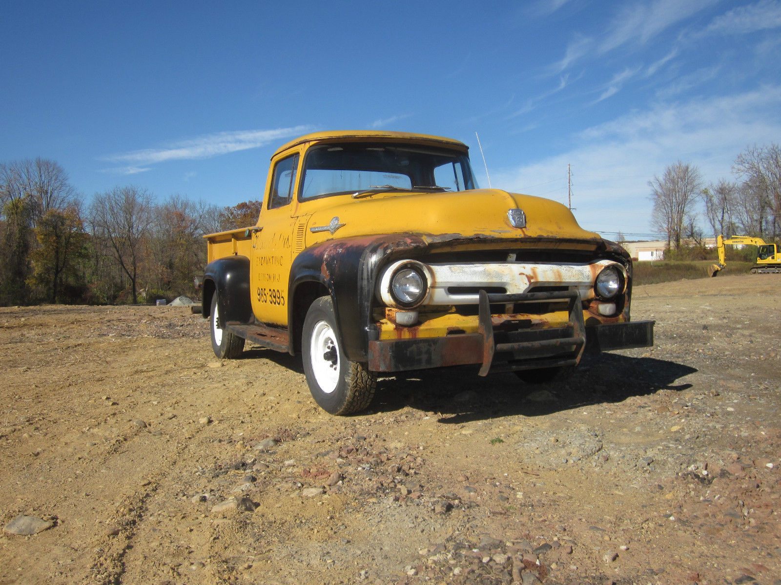 1956 Ford F250 Not F100 Pickup Truck Runs And Drives Hot Rod 1955 Running Board Prevnext
