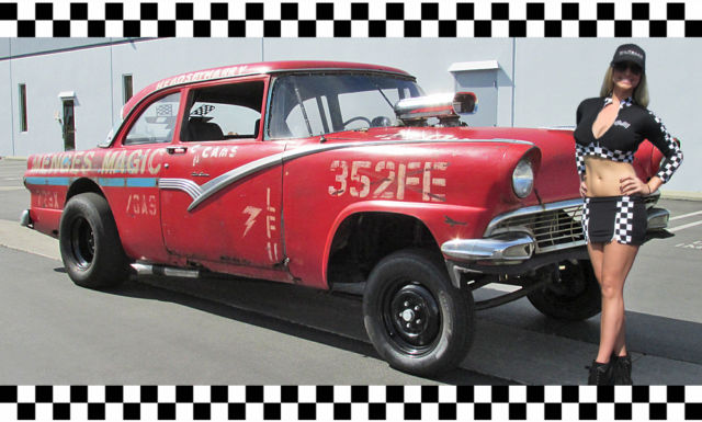 1956 Ford Straight Axle Gasser Vintage Drag Car Big