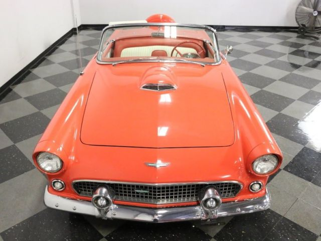 1956 ford thunderbird 26555 miles fiesta red convertible 312 v8 automatic classic ford. Black Bedroom Furniture Sets. Home Design Ideas
