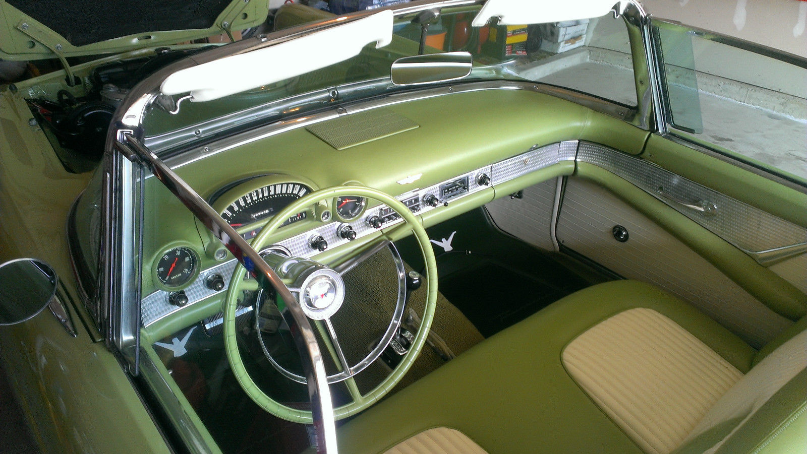 1956 Ford Thunderbird Sage Green Convertible 2 Door 5 1l