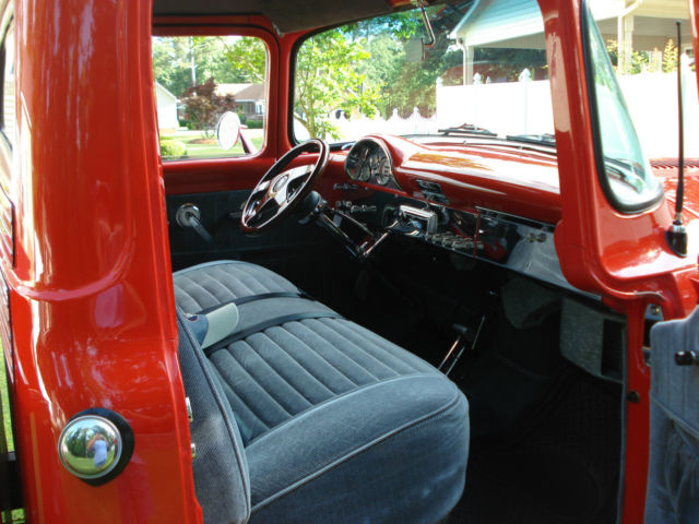 1956 ford truck red exterior light gray interior show condition classic ford f 100 1956. Black Bedroom Furniture Sets. Home Design Ideas