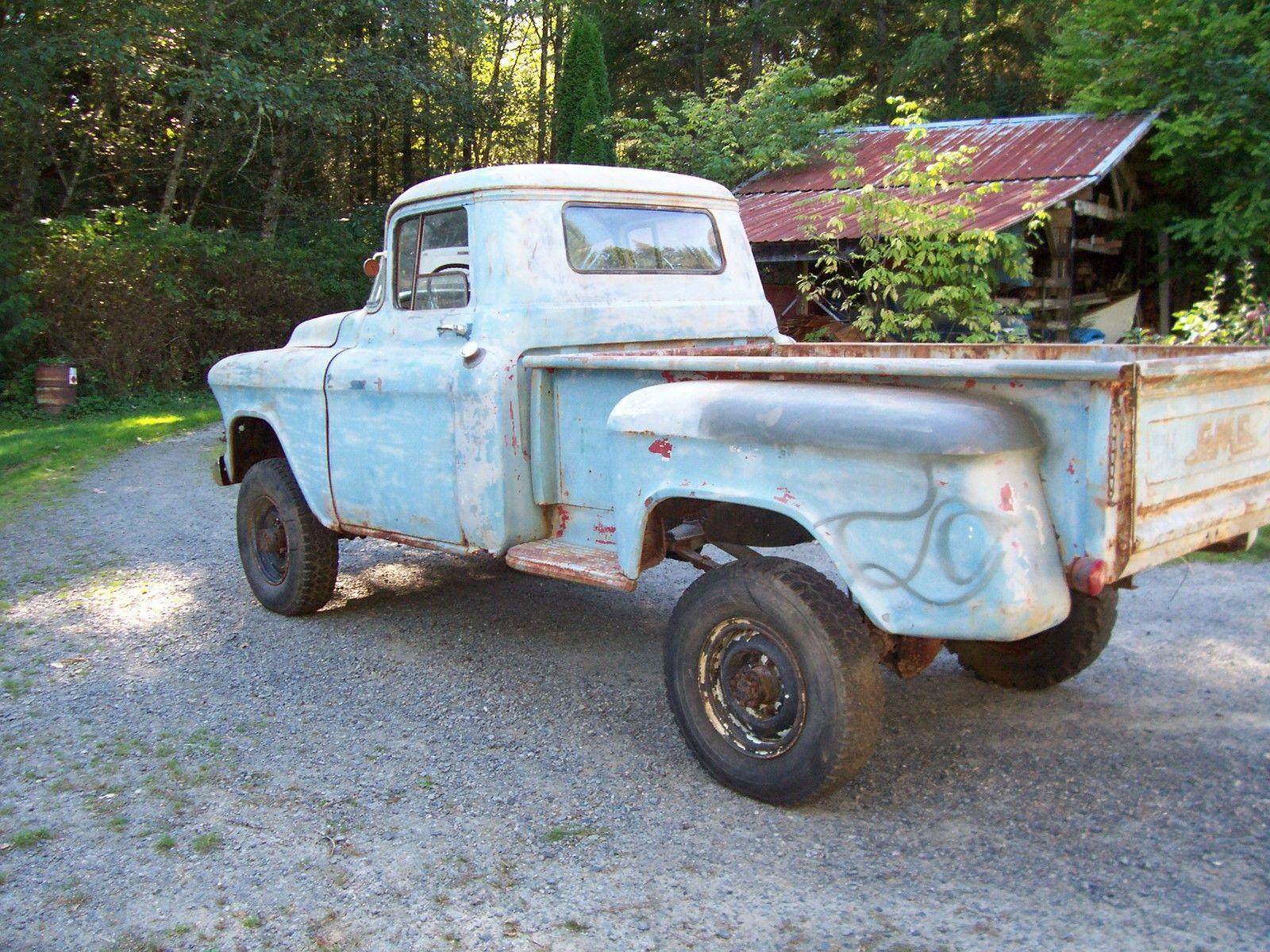 1956 GMC 1/2 ton with napco project like apache - Classic