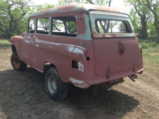 1956 GMC Factory 4wd Suburban Carryall Napco 4x4 - Classic