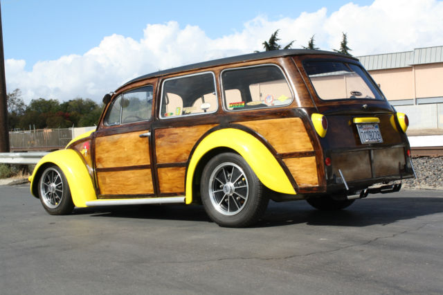1956 Vw Custom Woody Wagon Volkswagen Beetle Oval Window