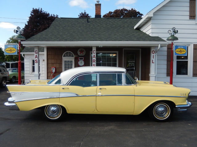 1957 57 chevrolet chevy bel air sport sedan 4 door hardtop for 1957 chevy belair 4 door sedan for sale