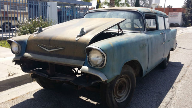 1957 chevrolet 150 2 door station wagon factory v6 parts for 1957 chevy two door wagon