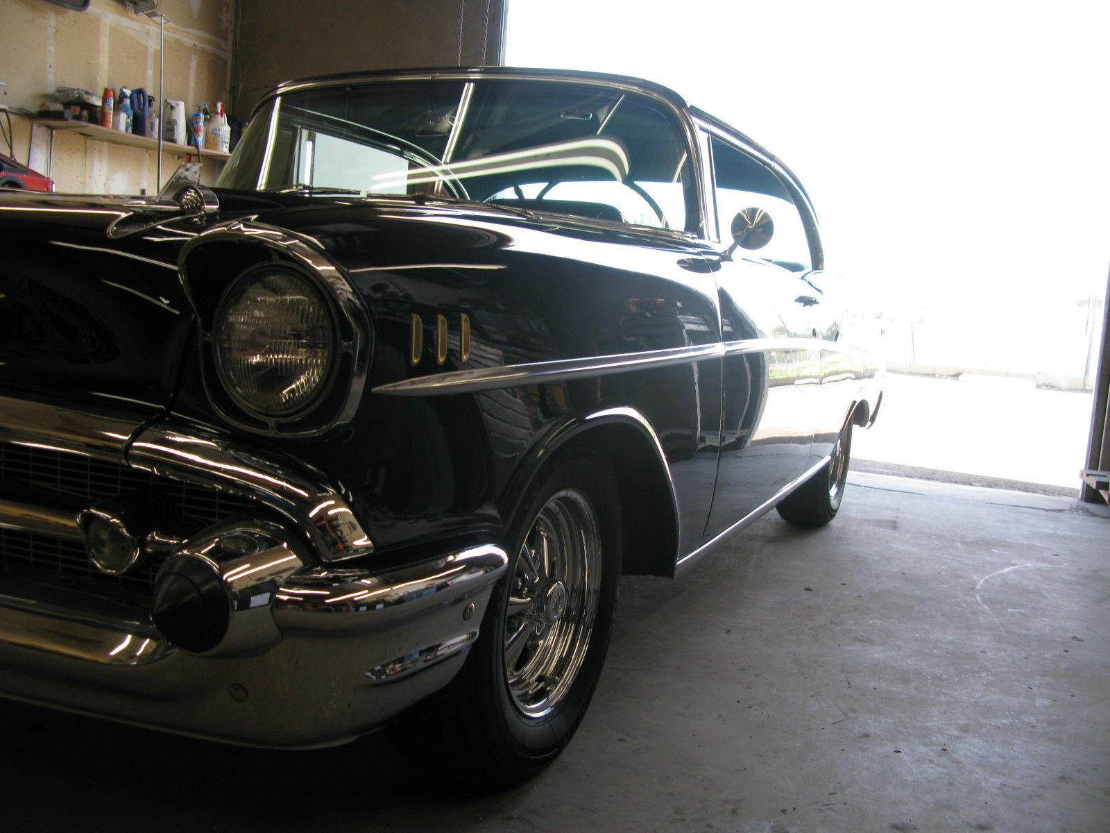 1957 chevrolet 2 door hardtop california no rust black for 1957 chevrolet 2 door hardtop