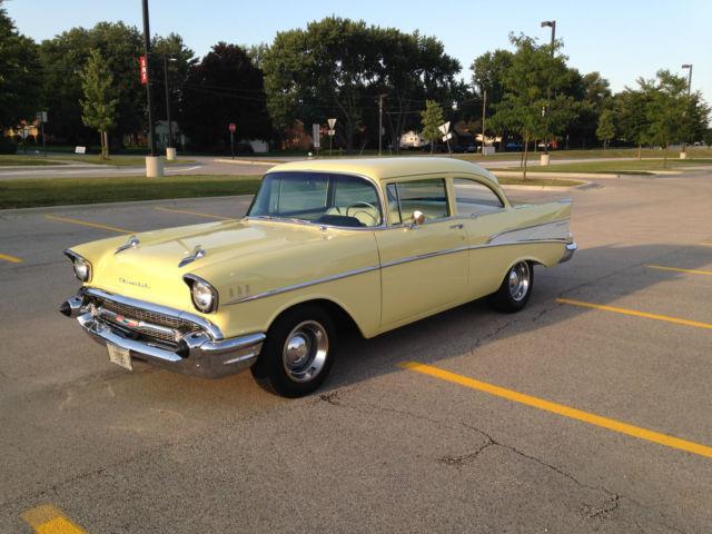 1957 chevrolet 210 2 door sedan colonial cream color for 1957 chevy 2 door sedan