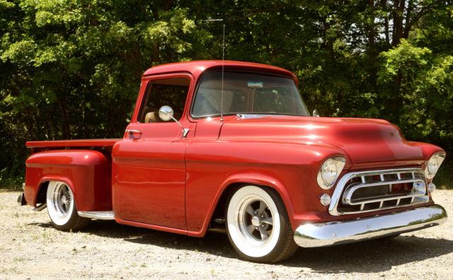 1957 chevrolet 3100 big block big window hot rod pickup for American classic trucks