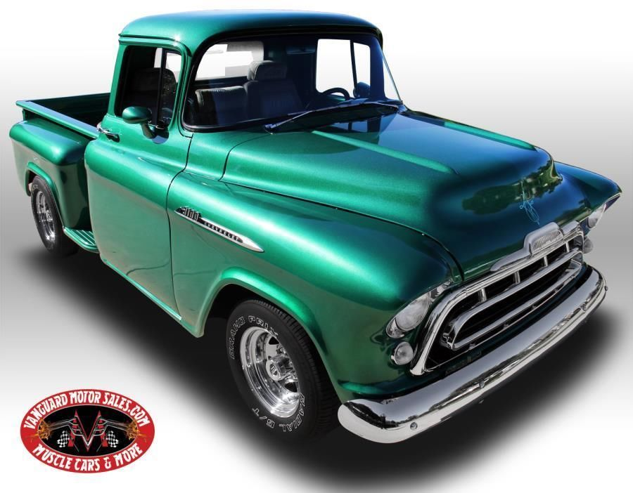 Truck Beds For Sale >> 1957 Chevrolet Apache Pickup Green Custom Step Side ...