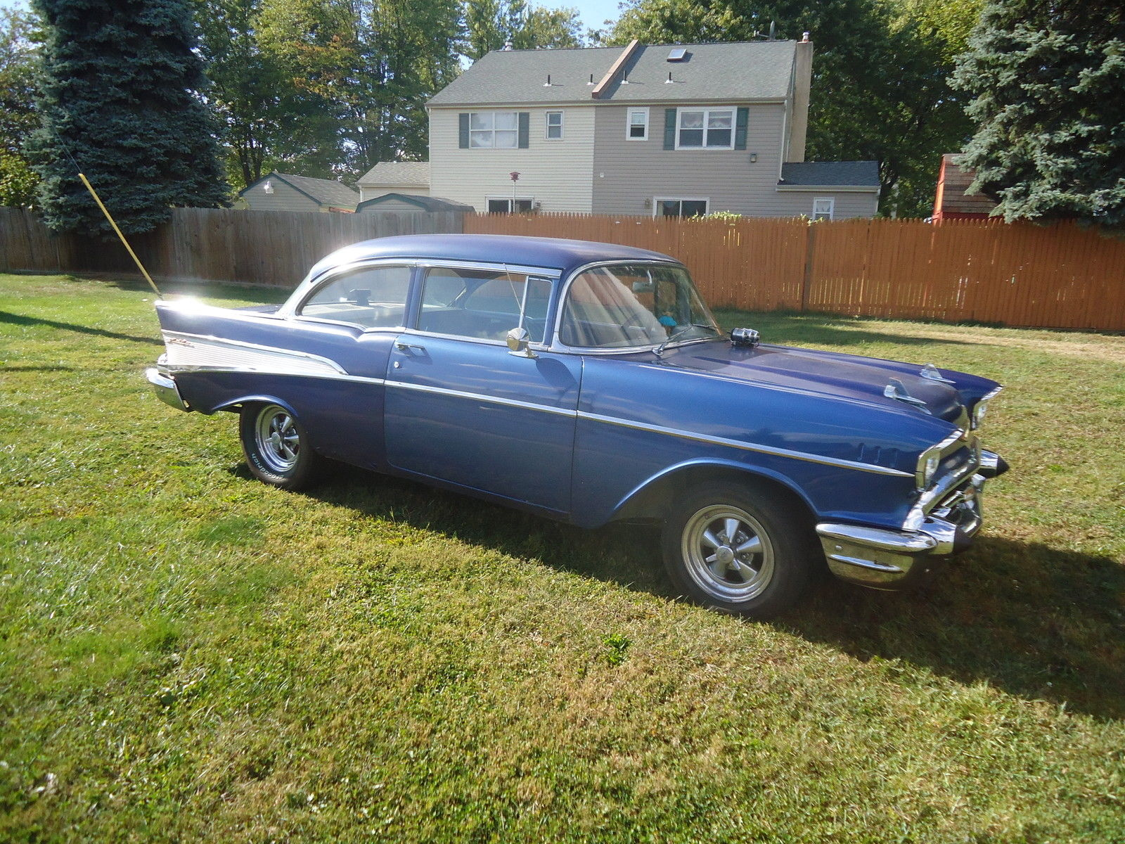 1957 Chevrolet Bel Air 2 Door Post Coupe Chevy Driver Rat
