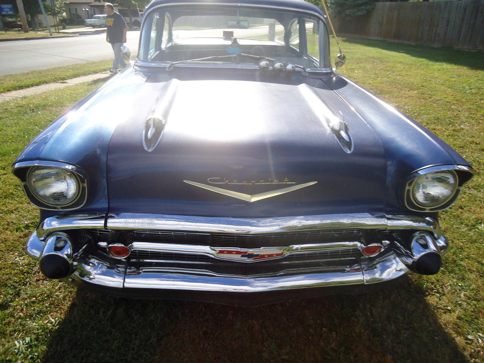 1957 chevrolet bel air 2 door post coupe chevy driver rat. Black Bedroom Furniture Sets. Home Design Ideas