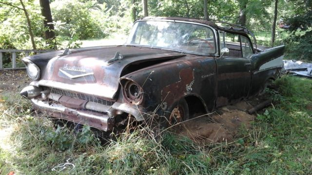 1957 Chevrolet Bel Air Convertible 2 Door 283 Rare Parts