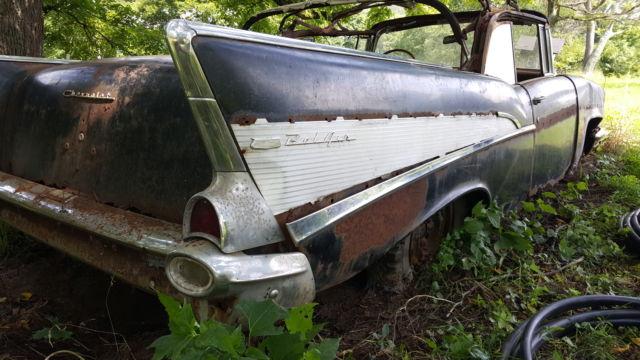 1957 Chevrolet Bel Air Convertible 2 Door 283 Rare Parts