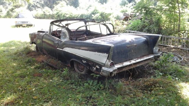 1957 Chevrolet Bel Air Convertible 2-Door 283 rare parts ...