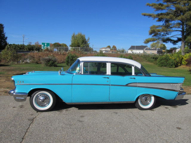1957 chevrolet belair 4 door sedan nice driver quality car for 1957 chevy 4 door sedan