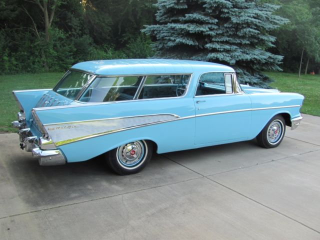 1957 Chevy Bel Air For Sale >> 1957 Chevrolet BelAir Nomad Station Wagon - Blue Flame Six - Classic Chevrolet Bel Air/150/210 ...