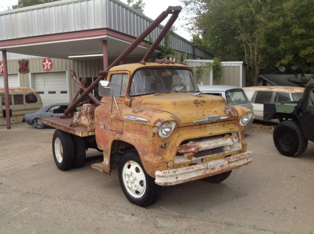 1957 chevrolet Chevy Cabover coe tow truck rat rod v8 car ...
