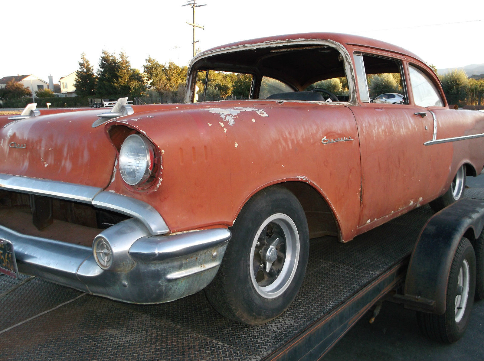 1957 chevy 2 door 150 black widow gasser hot rod pro for 1957 black widow 150 two door sedan