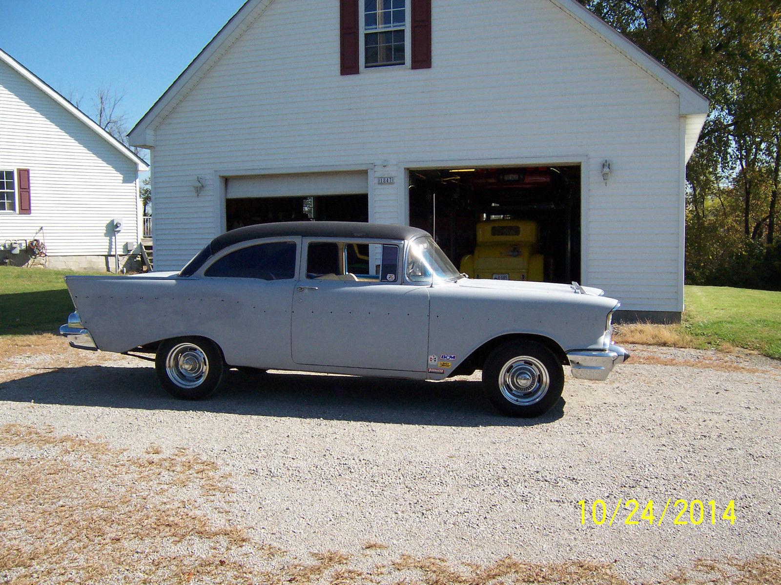 1957 Chevy 2 Door Post Project Car Classic Chevrolet Bel Air 150 Hardtop 210