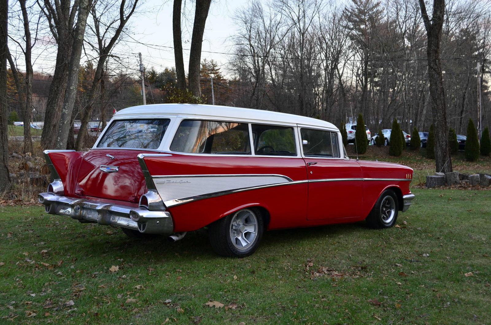 1957 Chevy 210 2 dr Handyman Station Wagon 350 Auto Disk ...