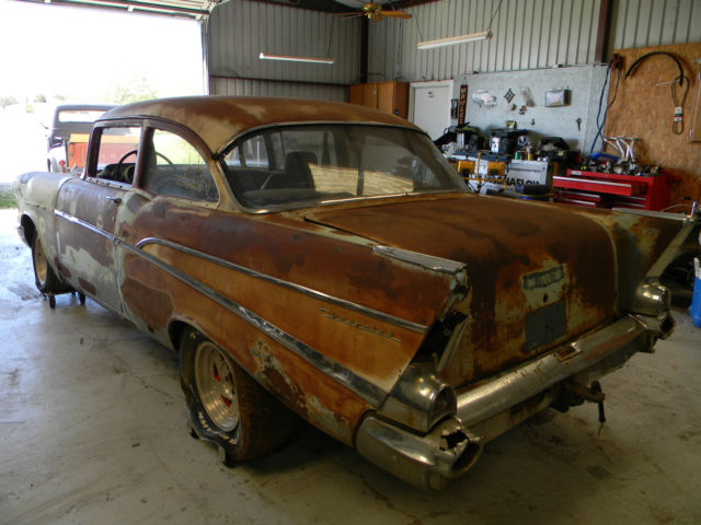 1957 Chevy 210 2dr Post Project Car 2 Door Classic