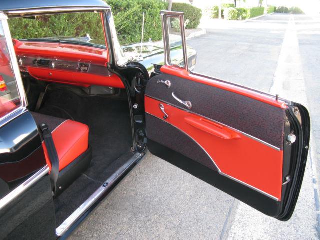 1957 Chevy Bel Air 2 Door Hardtop Black With Red Interior