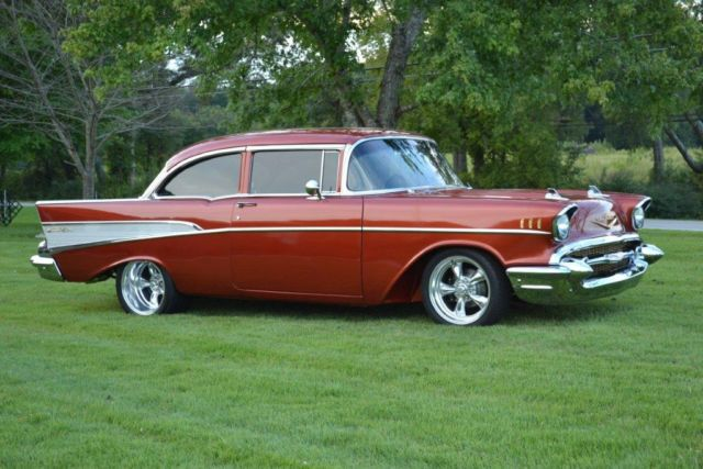 1957 chevy bel-air 2 door post