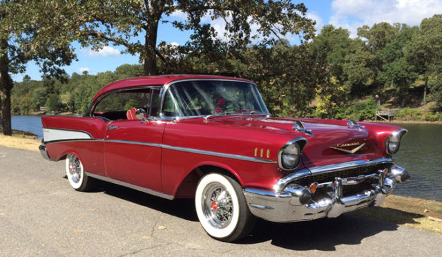 1957 chevy belair 2 door hardtop red classic chevrolet for 1957 belair 2 door
