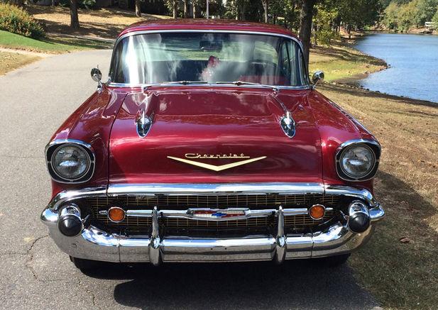 1957 Chevy Belair 2 Door Hardtop Red Classic Chevrolet