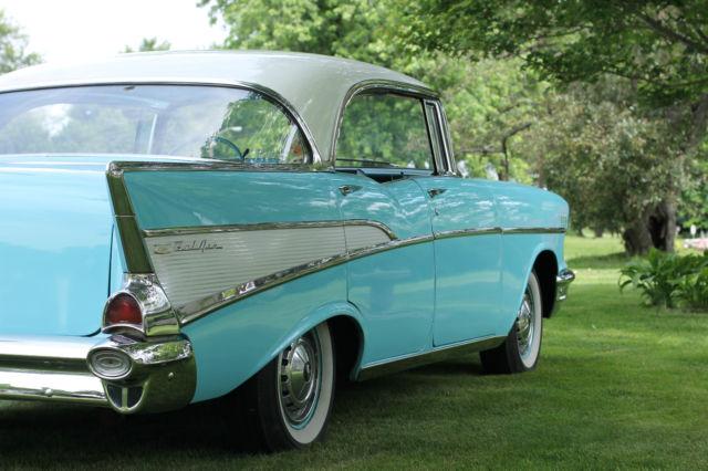 1957 chevy belair 4 door hard top classic chevrolet bel for 1957 chevy 210 4 door