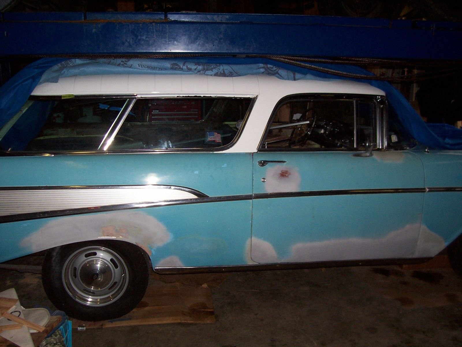 1957 Chevy Belair Nomad Wagon Project V 8 Auto Runs And Drives Chevrolet Interior Classic For Sale