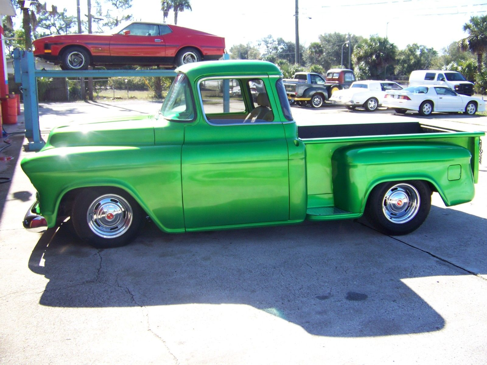 1957 Chevy Big Back Glass Custom P U 350 Ci 700 R4 Trans 4 Wheel Pickup Truck Sale Disc Brakes Classic Chevrolet Other Pickups For