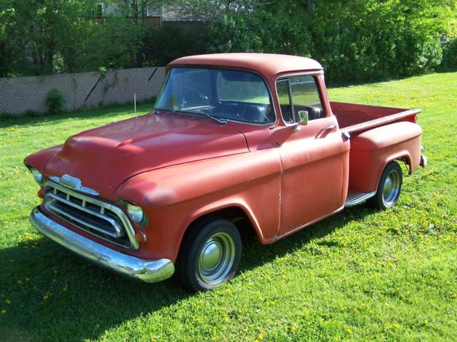 1957 chevy big window step side short box pick up 327 4 for 1957 chevy big window truck for sale