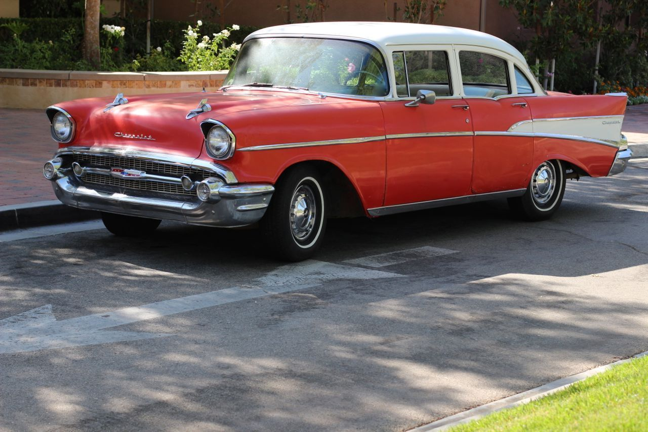 1957 chevy chevrolet 210 with bel air trim 4 door sedan for 1957 chevy 4 door sedan