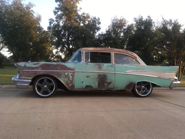 1957 Chevy Chevrolet Bel Air Coupe 210 150 Rat Rod Patina