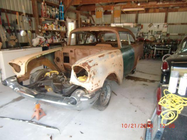 1957 Chevy Project Car Barnfind Survivor 55 56 58 60 67 68 Drag Race