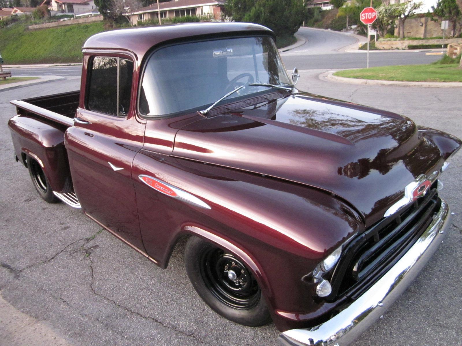 1957 Chevy Truck Big Window 454 Bb W 400hp Classic Chevrolet 4 Door